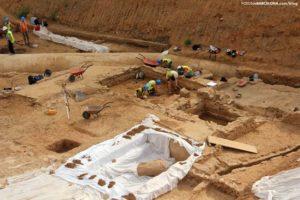 Las obras del AVE en La Sagrera de Barcelona descubren una villa romana