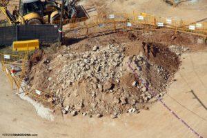La villa romana de la Sagrera convertida en un montón de piedras