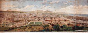 Vista de Barcelona desde Montjuic. Grabado de 1887