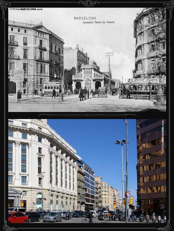 Cruïlla d'Aragó amb Passeig de Gràcia