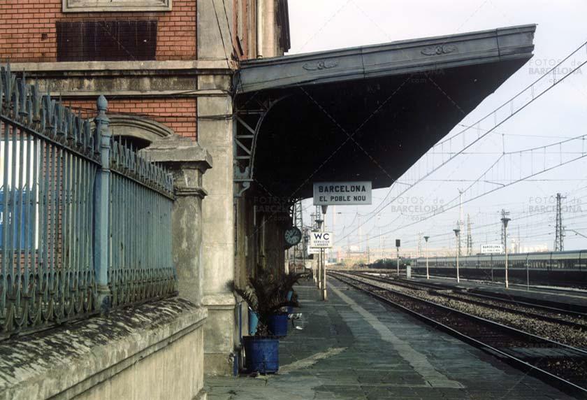 Estación de tren de Poble Nou