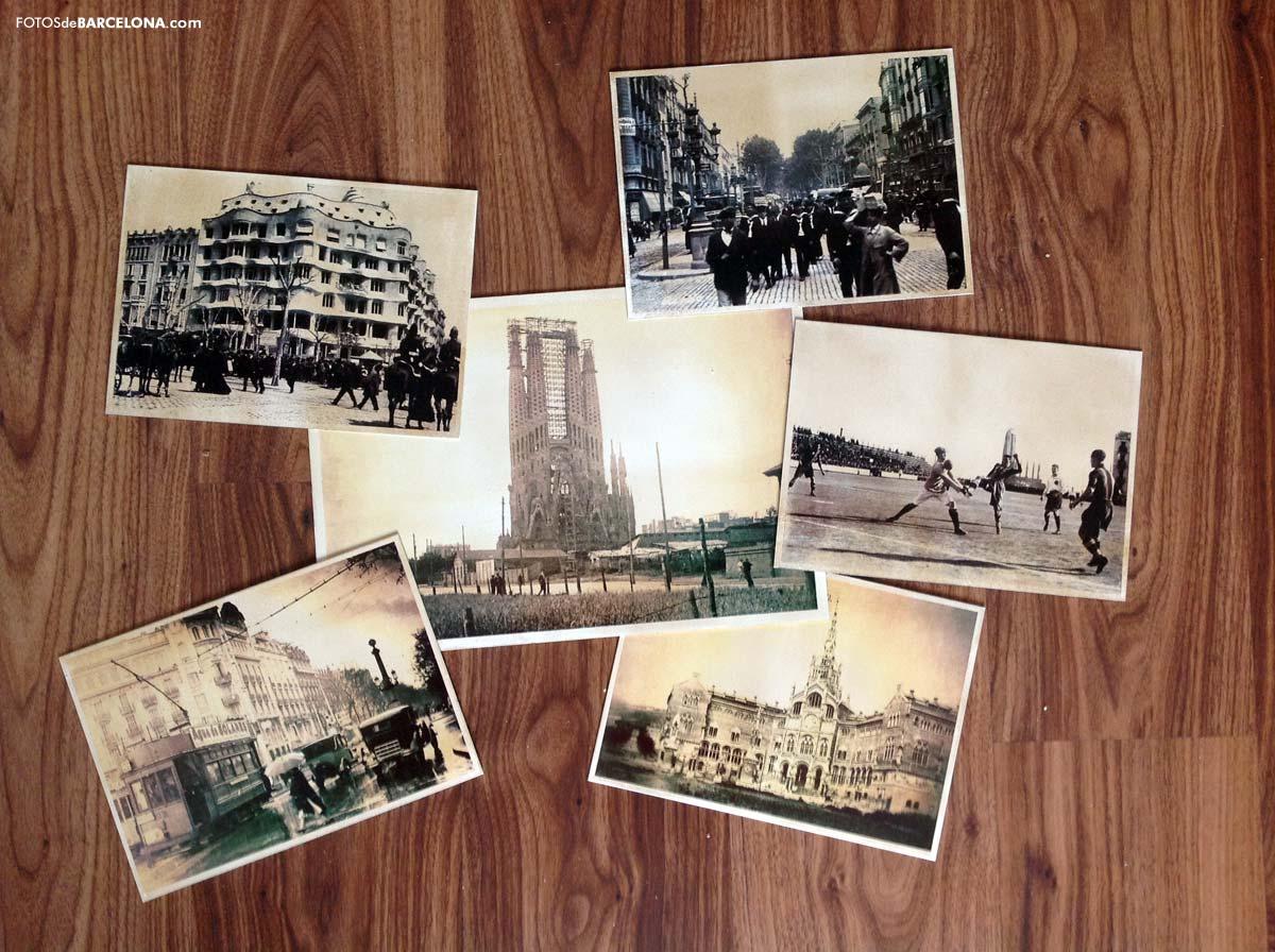 fotos antiguas de barcelona placas de metal