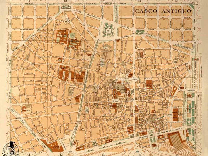 Mapa de Barcelona de 1949