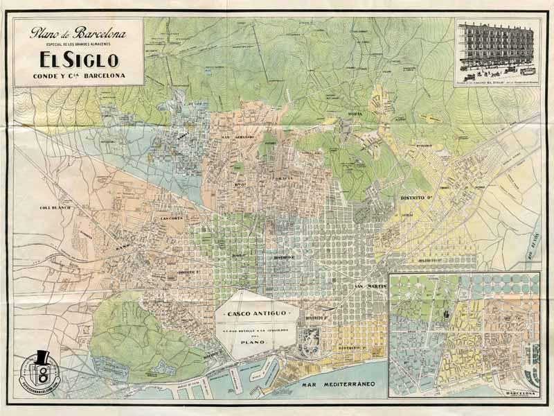 Mapa de Barcelona c.1915