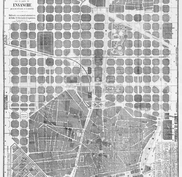 Mapa de Baarcelona de 1865