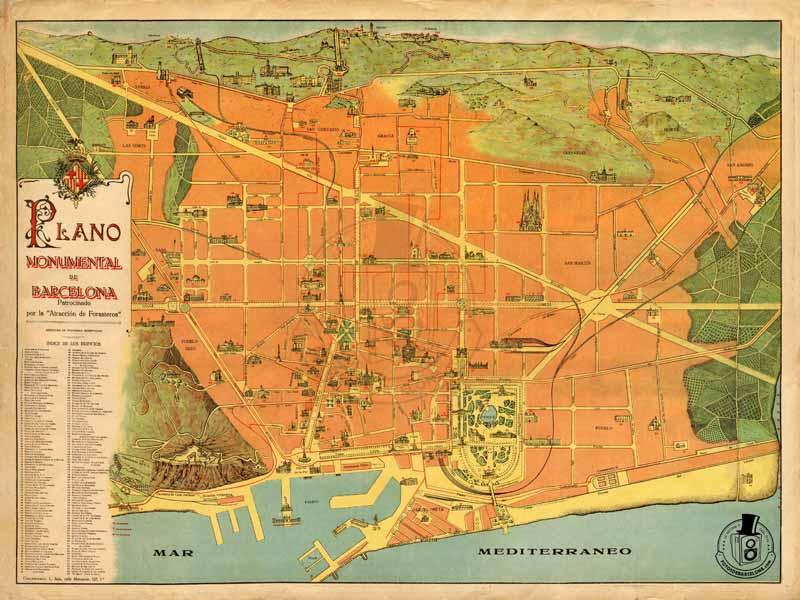 Mapa de Barcelona de 1915