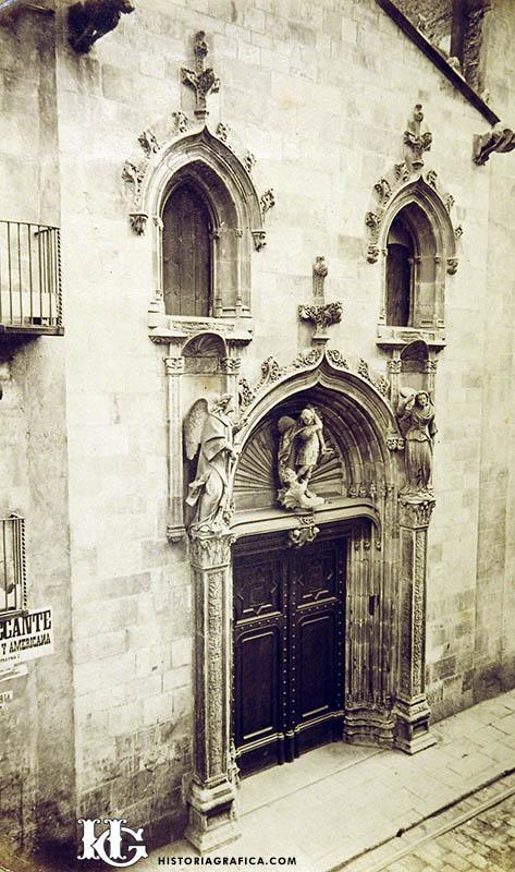 Esglesia Sant Miquel. Façana carrer Ample