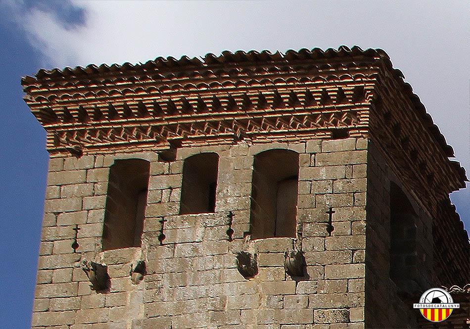 Castell de Montcortès. Detall de la torre