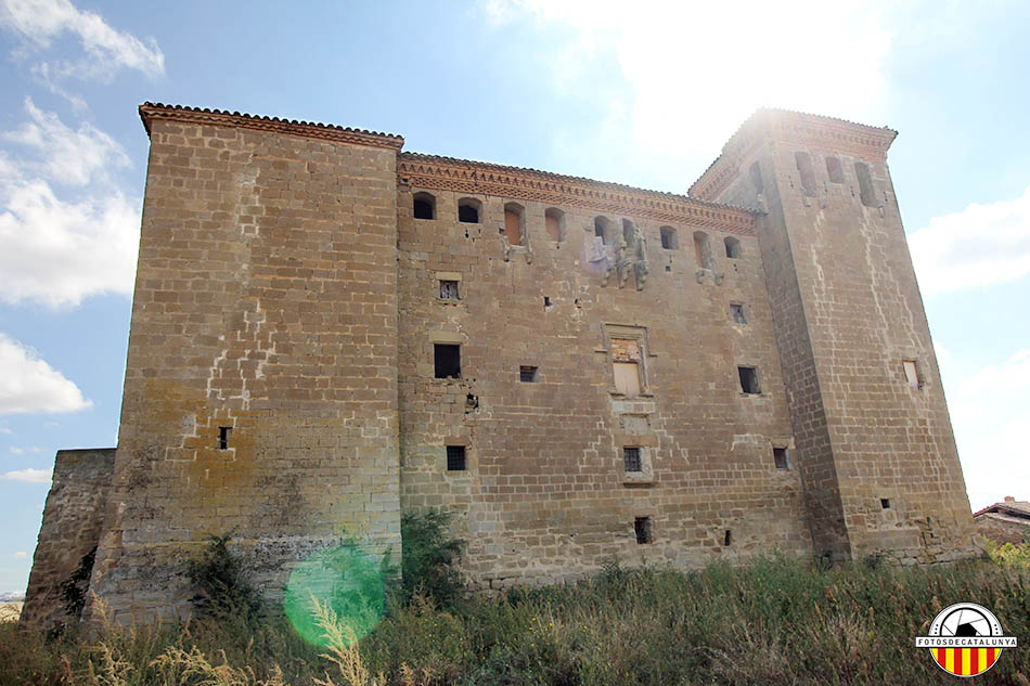 Castell de Montcortès. Façana posterior