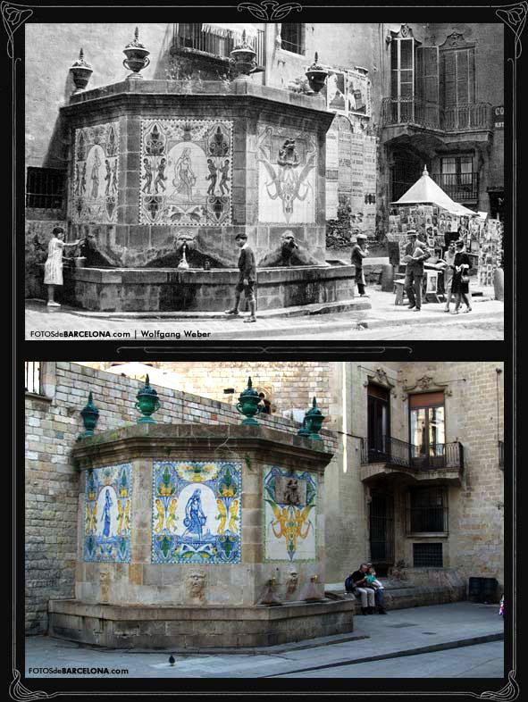 Comparativa de la font de Santa Anna de Barcelona.