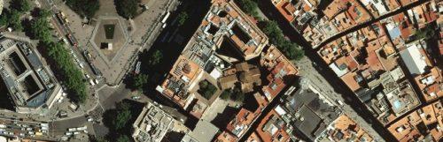 Vista aèria del conjunt de Santa Anna de Barcelona