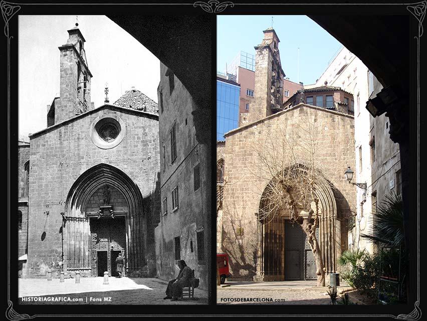 Comparativa de l'església Santa Anna de Barcelona.
