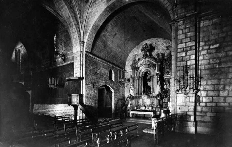 Altar de l'Església de Santa Anna de Barcelona en l'any 1957