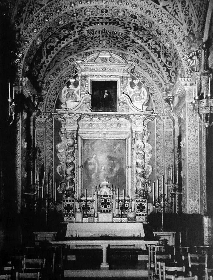 Església de Santa Anna de Barcelona. Altar de la antiga Capella del Santíssim Sacrament (abans de 1936).