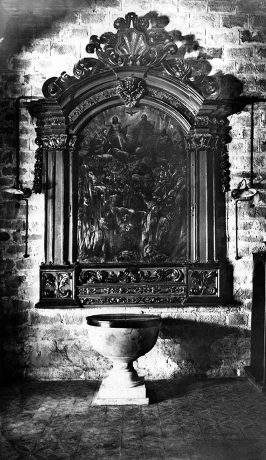 Església de Santa Anna de Barcelona. Pila baptismal.