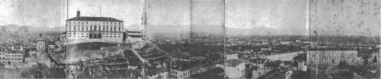 Panorámica de Udine (c.1860). Foto: Francesco Bonaldi