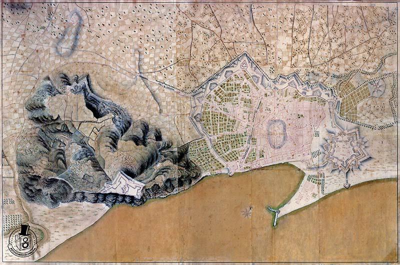PLÀNOL DE BARCELONA 1762