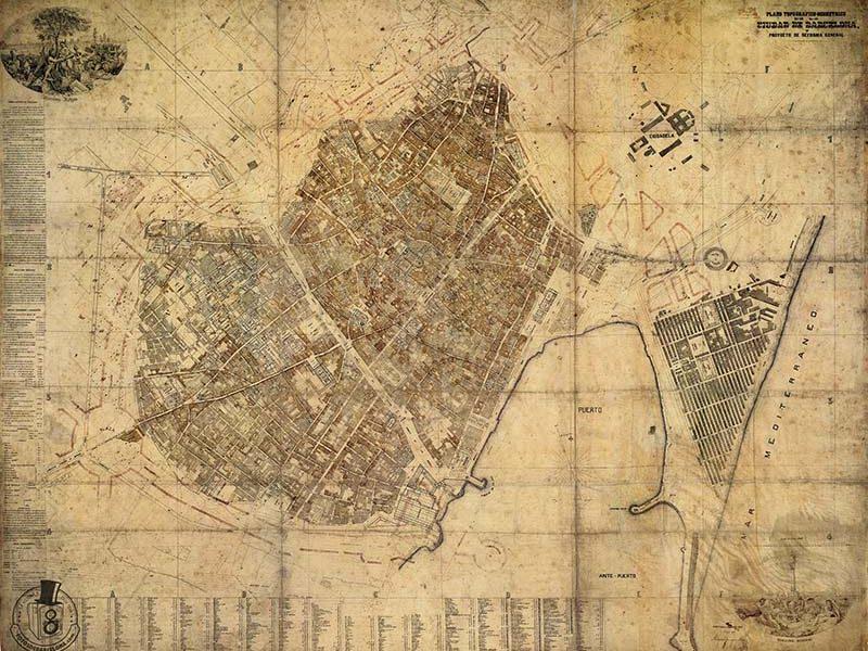 PLÀNOL DE BARCELONA 1862