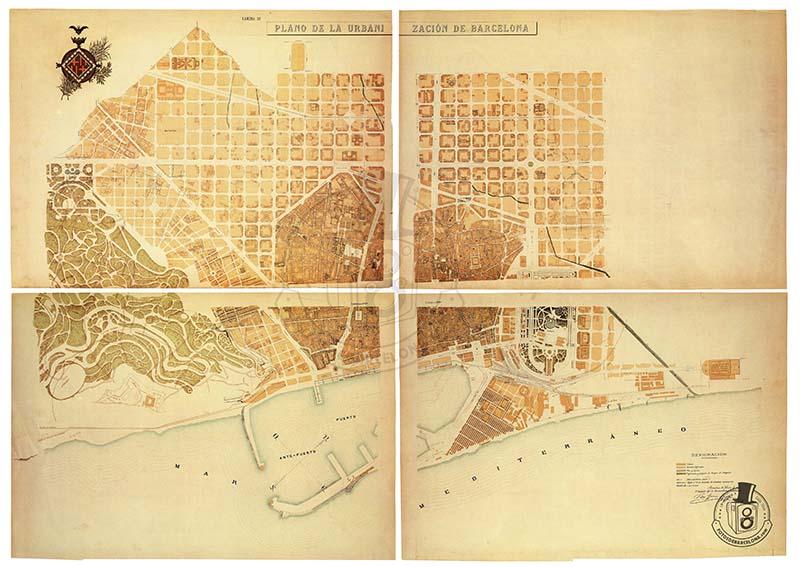 PLÀNOL DE BARCELONA 1891