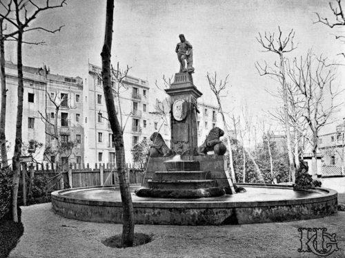 Fuente de Hércules de Barcelona. 1890