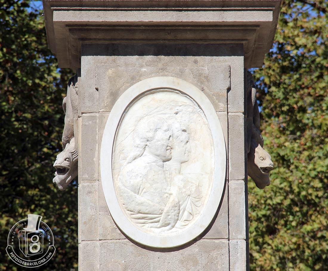 Detalle de la Fuente de Hércules de Barcelona
