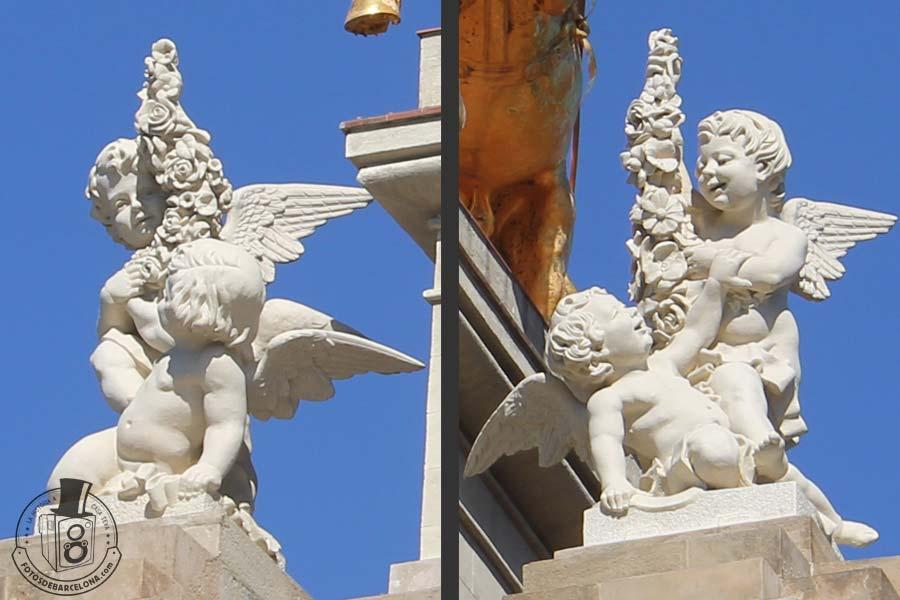 La Cascada mitologica del Parc de la Ciutadella de Barcelona. Angelots. fotosdebarcelona.com