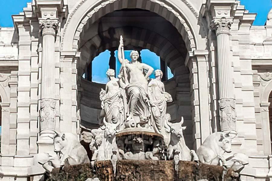 La Cascada mitologica del Parc de la Ciutadella de Barcelona. Venus de Longchamp