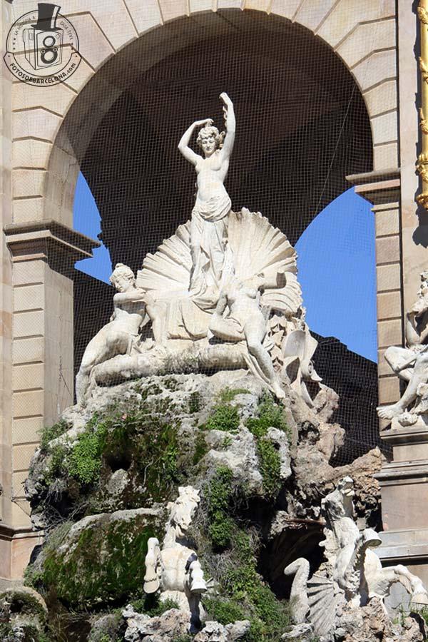 La Cascada mitologica del Parc de la Ciutadella de Barcelona. Venus. fotosdebarcelona.com