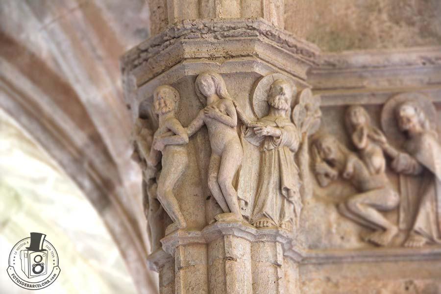Capitell del Genesis. Monestir de Santes Creus. fotosdebarcelona.com